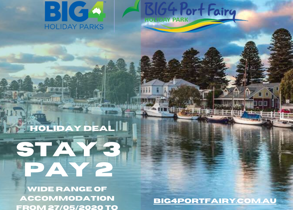 BIG4 Port Fairy Stay 3 Pay 2 Deal